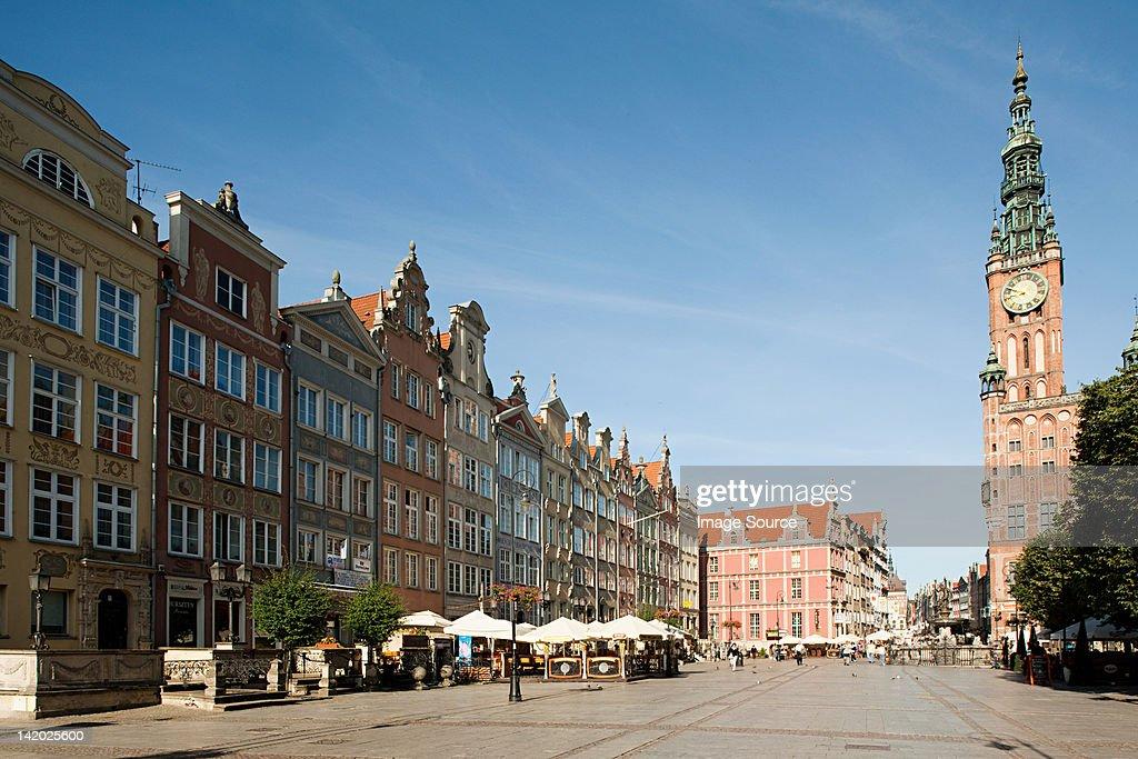 Town hall, Gdansk, Poland : Stock Photo