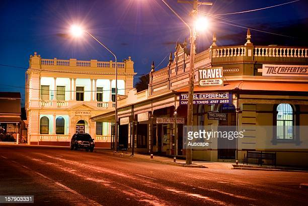Town Hall in the beautifully preserved historic city heart of Charters Towers During the late 1800s money from the gold mining and Charters Towers...