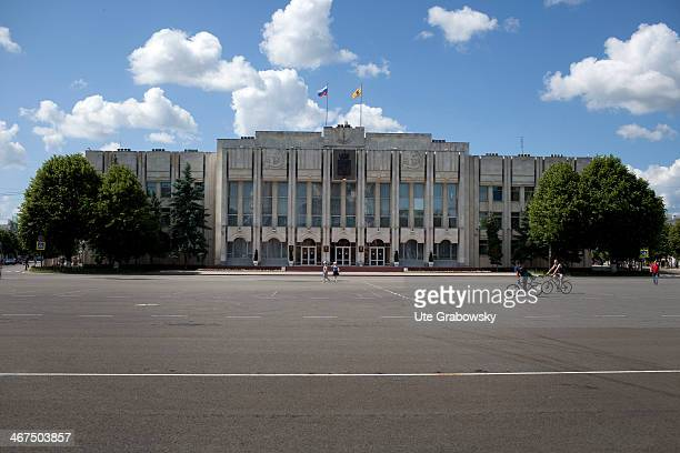 Town Hall in the typical socialist style with a massive parade ground on June 19 in Yaroslavl Russia Photo by Ute Grabowsky/Photothek via Getty Images