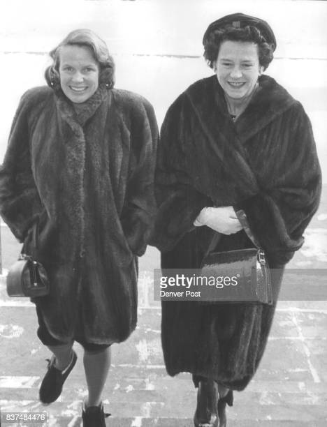 Town Hall LectureGoers A motherdaughter duo arriving for the Town Hall lecture by society chronicler Cleveland Amory on Tuesday were Mrs Edward...