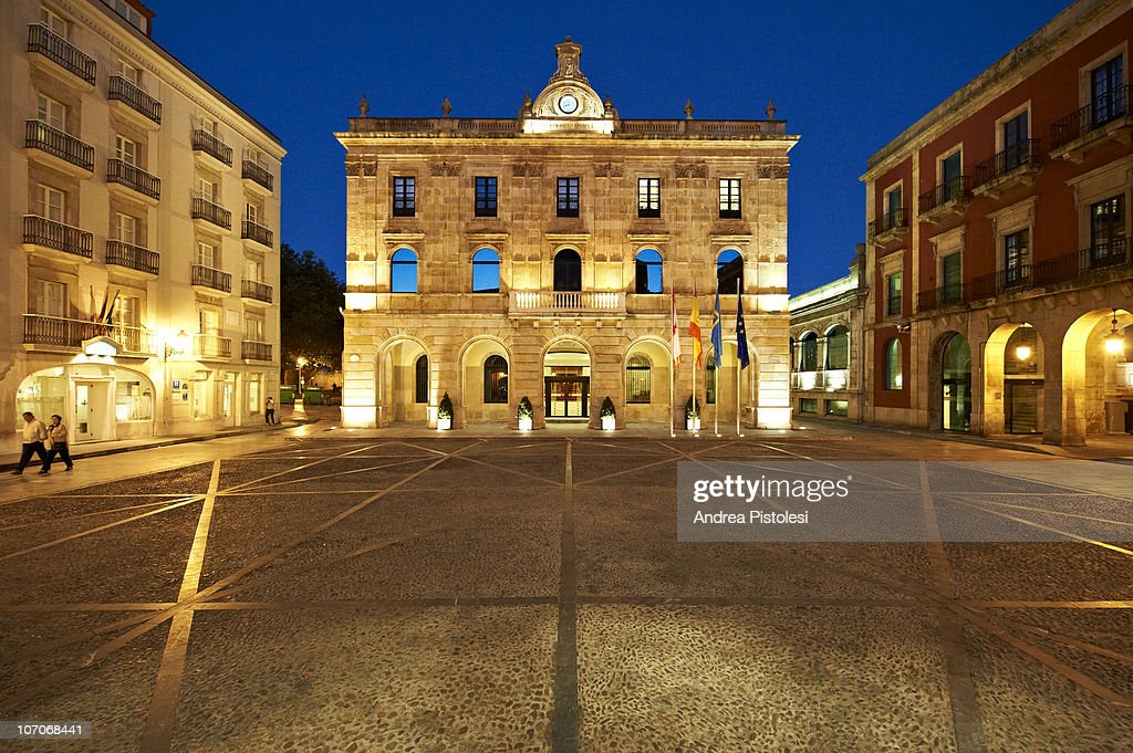 Town Hall of Gijon, Spain : Stock Photo