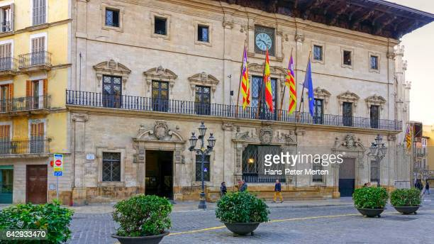Town hall of Palma de Mallorca on Placa Cort, Majorca, Balearic Islands, Spain