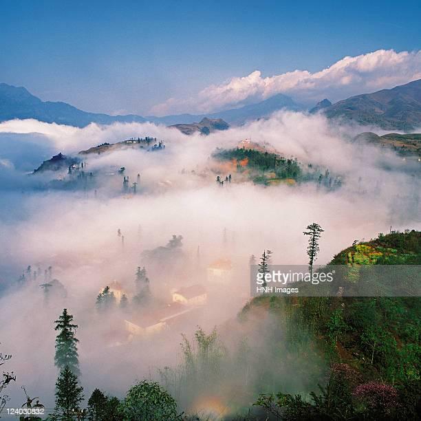 SAPA town in between cloud.