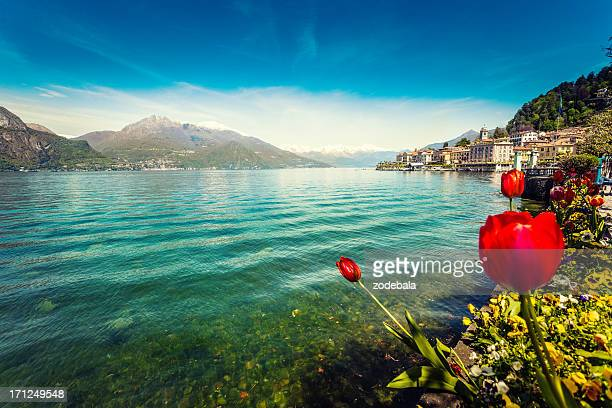 Town of Bellagio on Como Lake in Spring, Italy