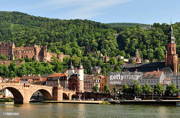 Town of Heidelberg, across from the River Necker, Germany