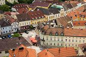 Town of Melk from Melk Abbey