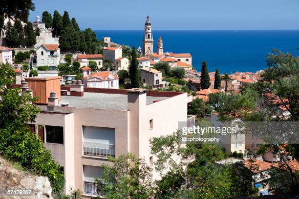 Town of Menton on the French Riviera