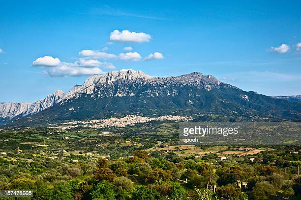 Town of Oliena on Sardinia, Italy