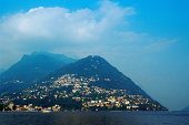 Town on mountainside