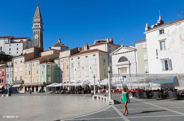 Town square, Piran, Slovenia
