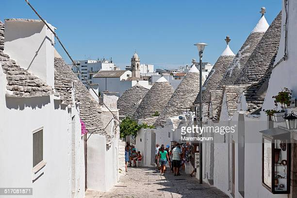Town with typical constructions called Trulli
