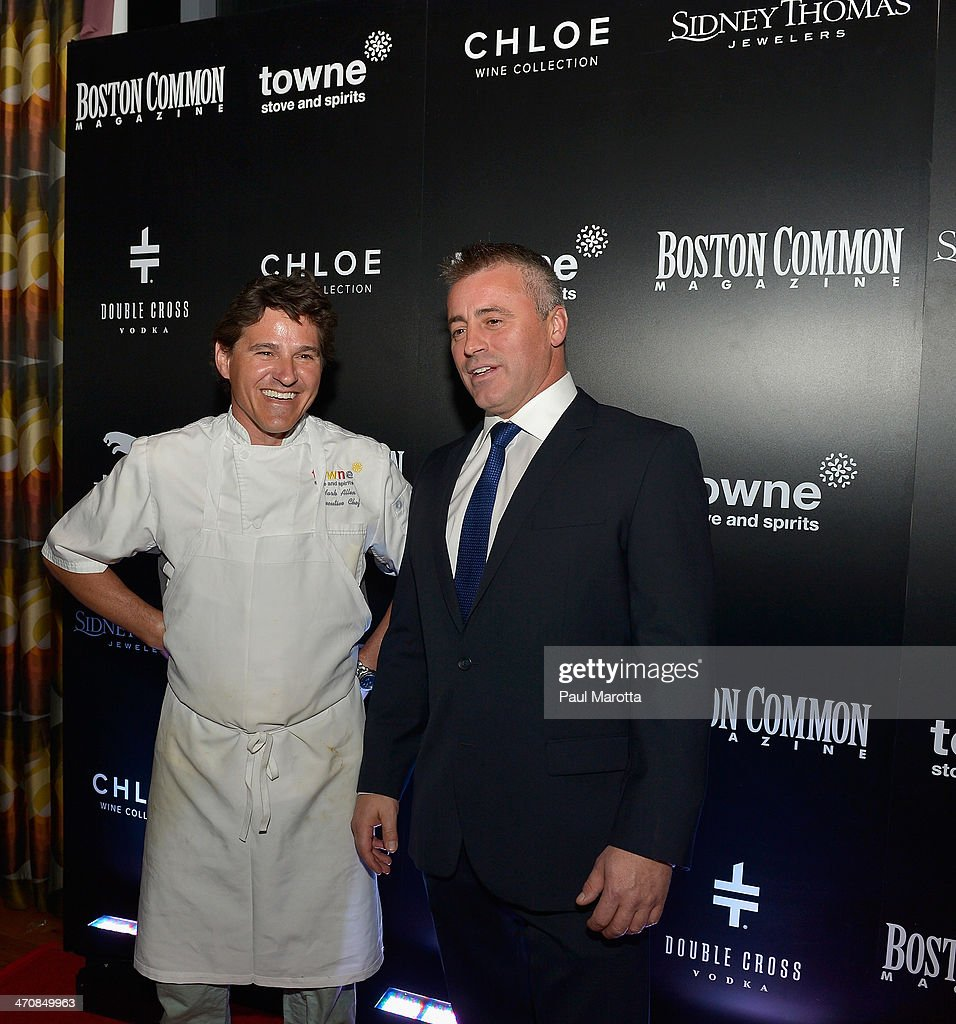 Towne Stove & Spirits Executive Chef Mark Alan and actor <a gi-track='captionPersonalityLinkClicked' href=/galleries/search?phrase=Matt+LeBlanc&family=editorial&specificpeople=204471 ng-click='$event.stopPropagation()'>Matt LeBlanc</a> attend the Boston Common Magazine Celebration of its Spring Issue Hosted by Cover Star, <a gi-track='captionPersonalityLinkClicked' href=/galleries/search?phrase=Matt+LeBlanc&family=editorial&specificpeople=204471 ng-click='$event.stopPropagation()'>Matt LeBlanc</a> on February 20, 2014 in Boston, Massachusetts.