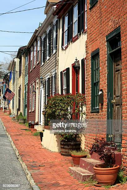 Townhouses and street in Historic Annapolis