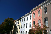 Townhouses in Historic Federal Hill, Baltimore, MD