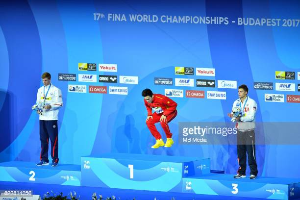Townley Haas Yang Sun and Aleksandr Krasnykh during the Budapest 2017 FINA World Championships on July 25 2017 in Budapest Hungary
