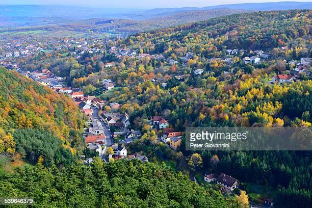 Townscape in autumn, Forchtenstein, Burgenland, Austria