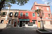 Townscape of Murano, Venice, Italy