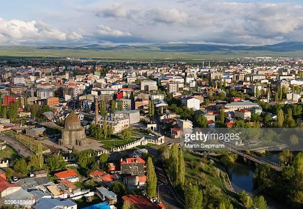 Townscape, view from citadel, Kars, Kars Province, Eastern Anatolia Region, Anatolia, Turkey