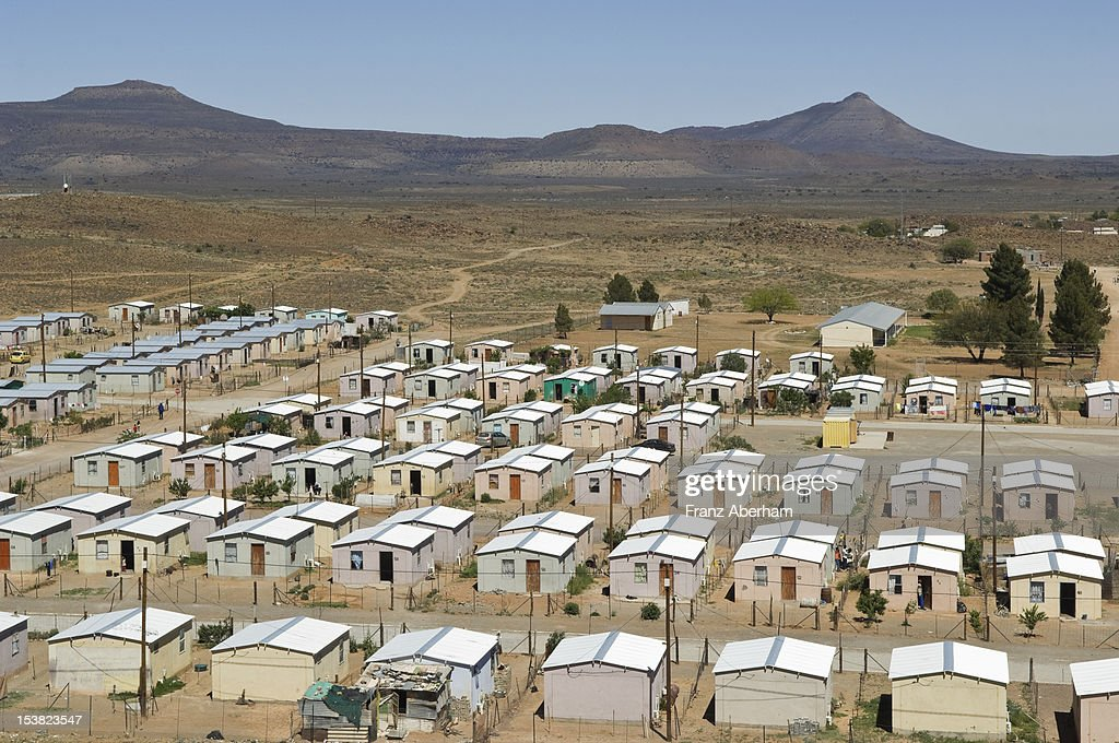 Township in the Karoo, South Africa : Stock Photo
