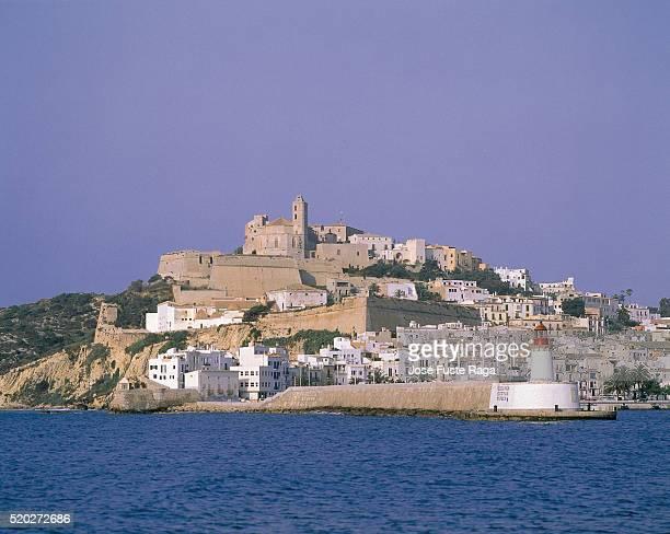 Townview of Ibiza and lighthouse, Ibiza