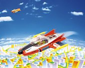 Toy, Airplane in the Future, High Angle View