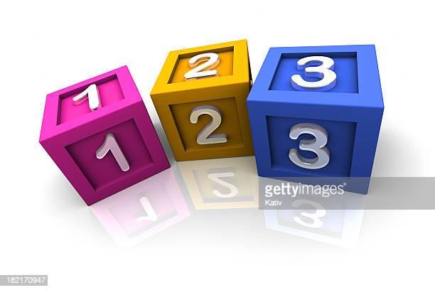 Jouet blocs 1, 2, 3
