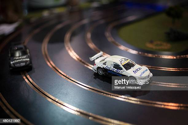 A toy car is seen during the FIA Motorex 2015 at Centro Banamex on July 11 2015 in Mexico City Mexico