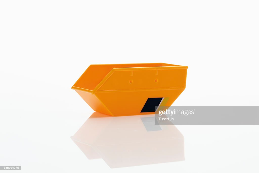 Toy container on white background : Stock Photo