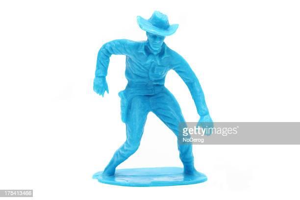 Toy cowboy über, um pistol