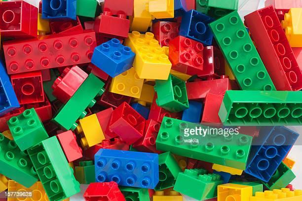 Cubi giocattolo full-frame sfondo