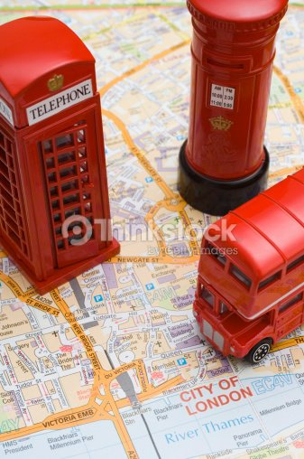 Toy Doubledecker Bus Phone Booth And Royal Mail Pillar