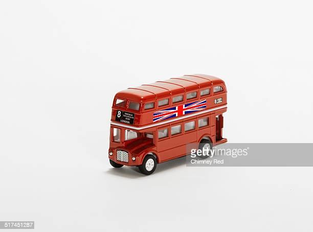 Toy double-decker London bus