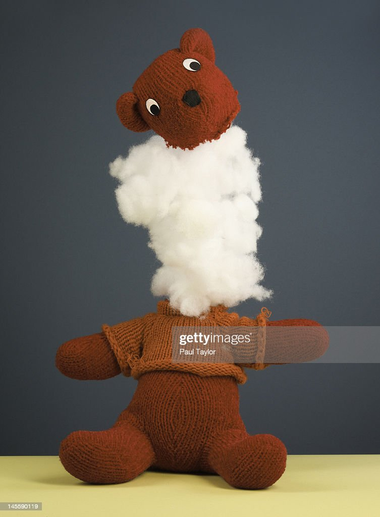 Toy Figure With Head Blowing Off