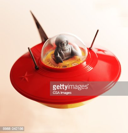 Toy Flying Saucer with Pilot