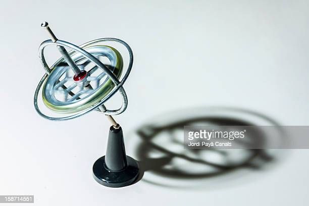 Toy gyroscope defying gravity