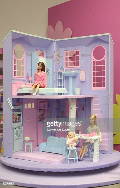Toy maker Mattel Inc featured an extended line of Barbie figures and accessories at the International Toy Fair February 10 2002 in New York The new...