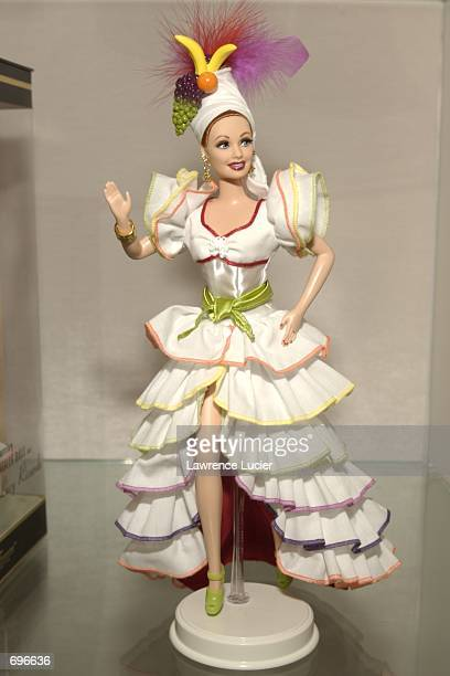 Toy maker Mattel Inc featured an extended line of Barbie figures at the International Toy Fair February 10 2002 in New York The new figures...