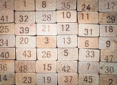 Toy number blocks, Used for textured and background