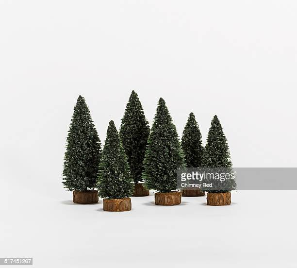 Toy pine forest