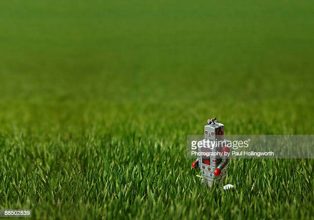 Toy robot is lost in space