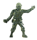 Toy Soldier Throwing Grenade