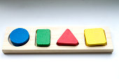 Toy sorter. A toy for the development of children's thinking. The study of geometric shapes