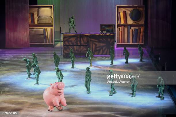 Toy Story 3 characters perform during the Disney on Ice show at Tauron Arena Krakow Poland on the November 17 2017 Disney on Ice is a show through...