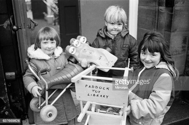 Toy time making their choices at the new Paddock Toy Library are Rebecca Brook three Ben Schofield four and fiveyearold Vicky Schofield They were...