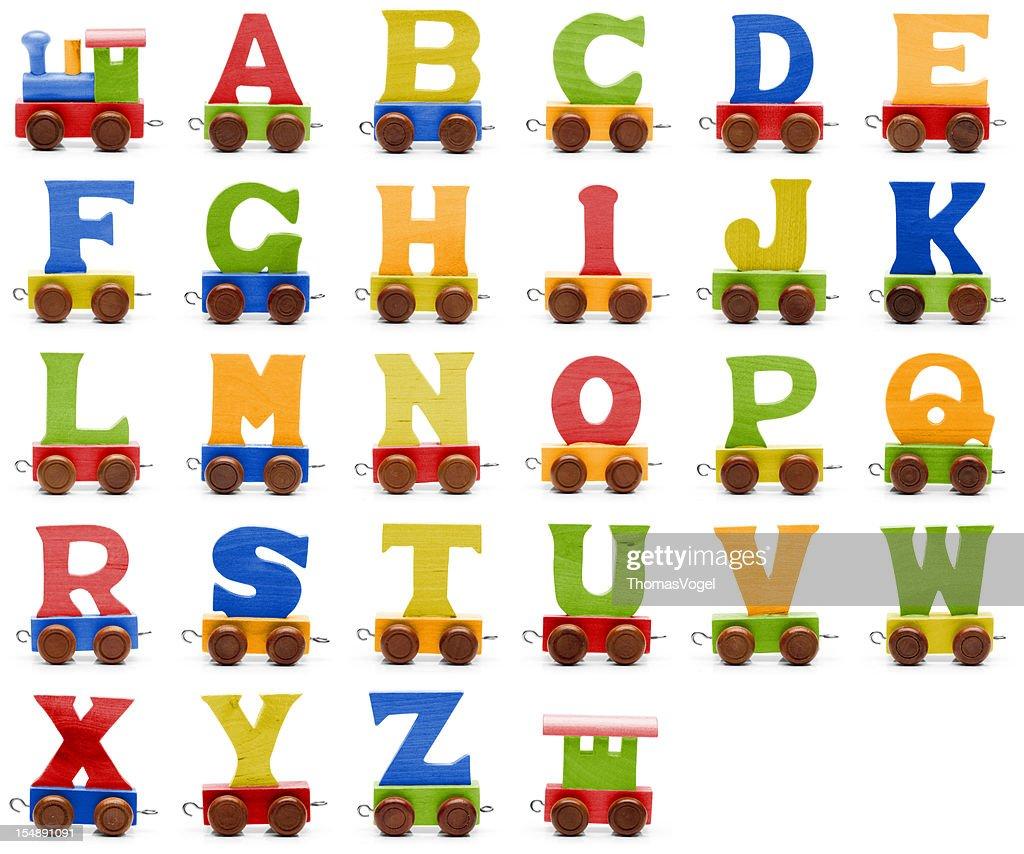 Toy train alphabet