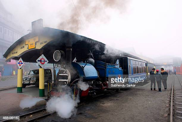 Toy Train stands at Ghum Railway station The Darjeeling Himalayan Railway also known as the 'Toy Train' is a narrow gauge railway Built between 1879...