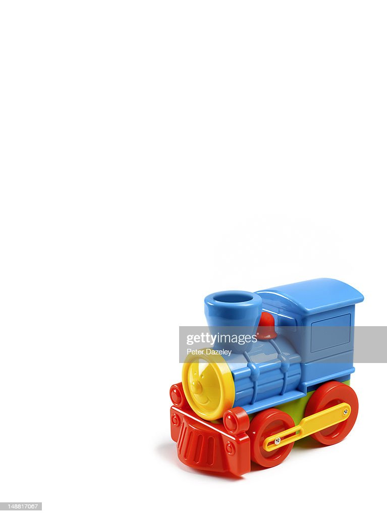 Toy train, with copy space