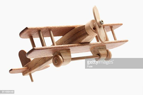 Toy wooden airplane