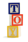 Toy Wooden Block Cubes Stacked for Education, Learning Spelling, Balance