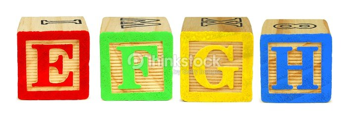 toy wooden letter blocks e f g h